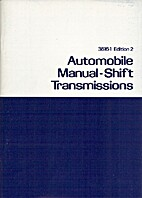 Automobile Manual-Shift Transmissions by…