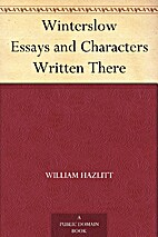 Winterslow [ed. WH's son] by William Hazlitt