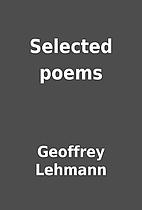 Selected poems by Geoffrey Lehmann