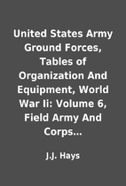 United States Army Ground Forces, Tables of…