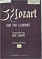 Mozart for the clarinet by Eric Simon