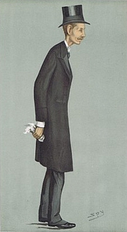 """Author photo. Vanity Fair, 18 October 1900, as """"Statesmen"""" Number 729."""
