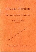 Eiserne Portion der norwegischen Sprache by…