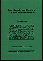 Lost Chantries and Chapels of Medieval…