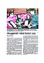 ANUGERAH REKA BOTOL SOS by JULIA ISMAIL