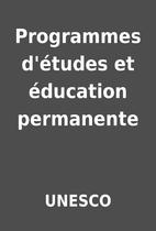 Programmes d'études et éducation…