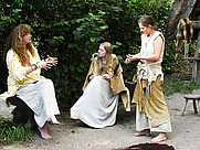 Author photo. Lydia Rood (left), Archeon, Alphen aan den Rijn, the Netherlands, 2007.  Photo by Hans Splinter / Flickr.