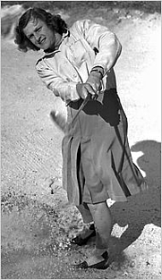 Author photo. Babe Didrikson Zaharias in 1947 [source: New York Times; photographer not known]