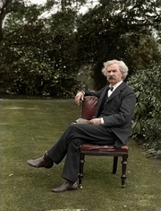 Author photo. Mark Twain c. 1900