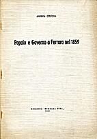 Popolo e Governo a Ferrara nel 1859 by…