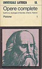 Apologia Socratis; Crito; Euthyphro; Phaedo…