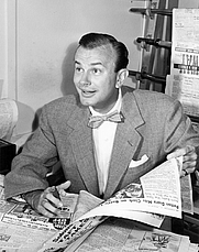Author photo. Jack Paar from his early 1950s television game show Up to Paar [credit: NBC Television]