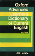 Oxford Advanced Learner's Dictionary by A.S.…