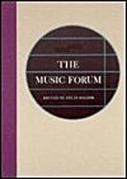 The Music Forum by Felix Salzer