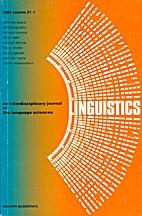 Linguistics 21 (1983) 1: 1-292 [= Brian…