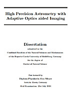High Precision Astrometry with Adaptive…