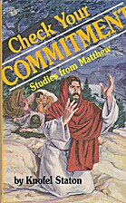 Check Your Commitment: Studies from Matthew…
