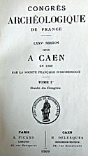 France: 1908, 75e Congrès archéologique de…