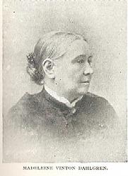 Author photo. Madeleine Vinton Dahlgren (1825-1898) Buffalo Electrotype and Engraving Co., Buffalo, N.Y.