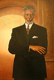 Author photo. Oil on canvas, Andre White, 1997, Collection of U.S. House of Representatives.