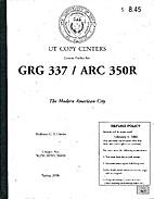 The Modern American City - GRG 337/ARC 350R,…
