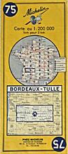Michelin Carte Au 1:200 000 Bordeaux - Tulle…