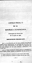 Código penal de la República Dominicana…