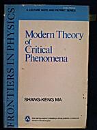 Modern theory of critical phenomena by…