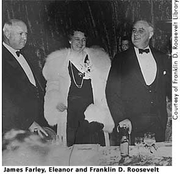 Author photo. James A. Farley with President & Mrs. Franklin D. Roosevelt (National Park Service)