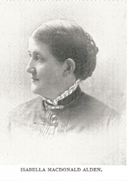 Author photo. Isabella Macdonald Alden [aka Pansy] (1841-1930) Buffalo Electrotype and Engraving Co., Buffalo, N.Y.