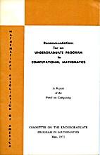 Recommendations for an Undergraduate Program…