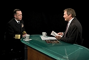 Author photo. Chairman of the Joint Chiefs of Staff Navy Adm. Mike Mullen talks with television host Charlie Rose in Washington, D.C., March 12, 2009. DoD photo by Petty Officer 1st Class Chad McNeeley, U.S. Navy (defenseimagery.mil)