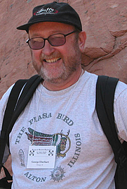 Author photo. Photo taken by Jean-Jacques Velasco (former head of the French UFO agency) using my camera, May 2004, in the Valley of Fire State Park, Nevada.