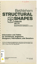 Bethlehem Structural Shapes Catalog 3277C by…