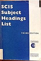 SCIS subject headings list