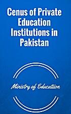 Cenus of private education institutions in…