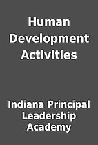 Human Development Activities by Indiana…