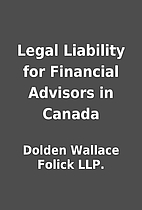 Legal Liability for Financial Advisors in…