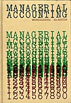 Managerial accounting by Carl L Moore
