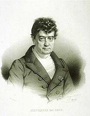 Author photo. Antoine Isaac Silvestre de Sacy