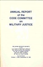 Annual Report of the Code Committee on…