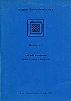 Quaderno n. 7. Atti del convegno su Storia,…