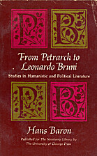 From Petrarch to Leonardo Bruni; studies in…
