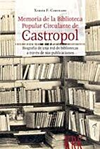 Memoria de la Biblioteca Popular Circulante…