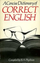 A Concise Dictionary of Correct English by…