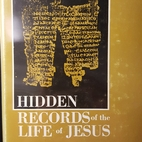 Hidden records of the life of Jesus; an…