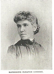 Author photo. Katherine Eleanor Conway (b.1853) Buffalo Electrotype and Engraving Co., Buffalo, N.Y.