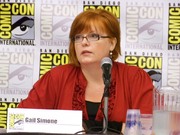 Author photo. Gail Simone Spotlight, San Diego Comic-Con International 2009, photo by Loren Javier