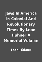 Jews In America In Colonial And…