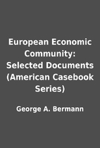 European Economic Community: Selected…